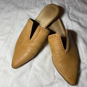 Shoes - Flat mules- leather